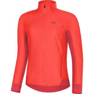 Women's long sleeve jersey Gore R3 Partial Windstopper