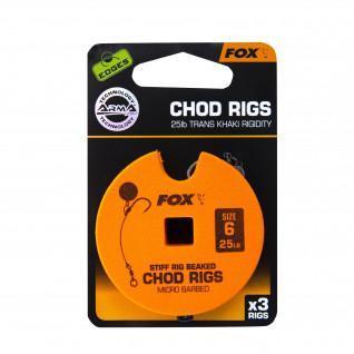 Fox Monofilament Rigid 25lb Standard Chod Rig Barbed size 6