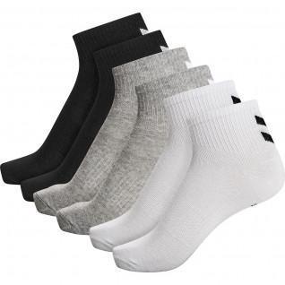 Pack of 6 women's mid-length socks Hummel hmlchevron