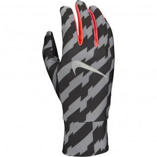 Nike printed lightweight tech running gloves