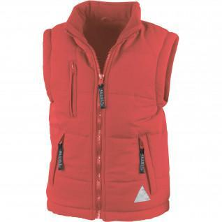 Children's sleeveless jacket Result Doublé