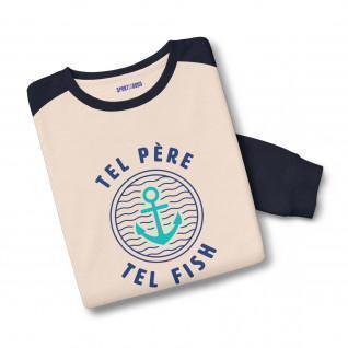Sweatshirt bicolore Tel Père Tel Fish